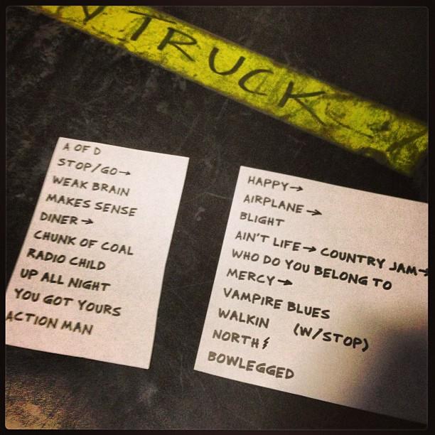 7/14/2013 Setlist