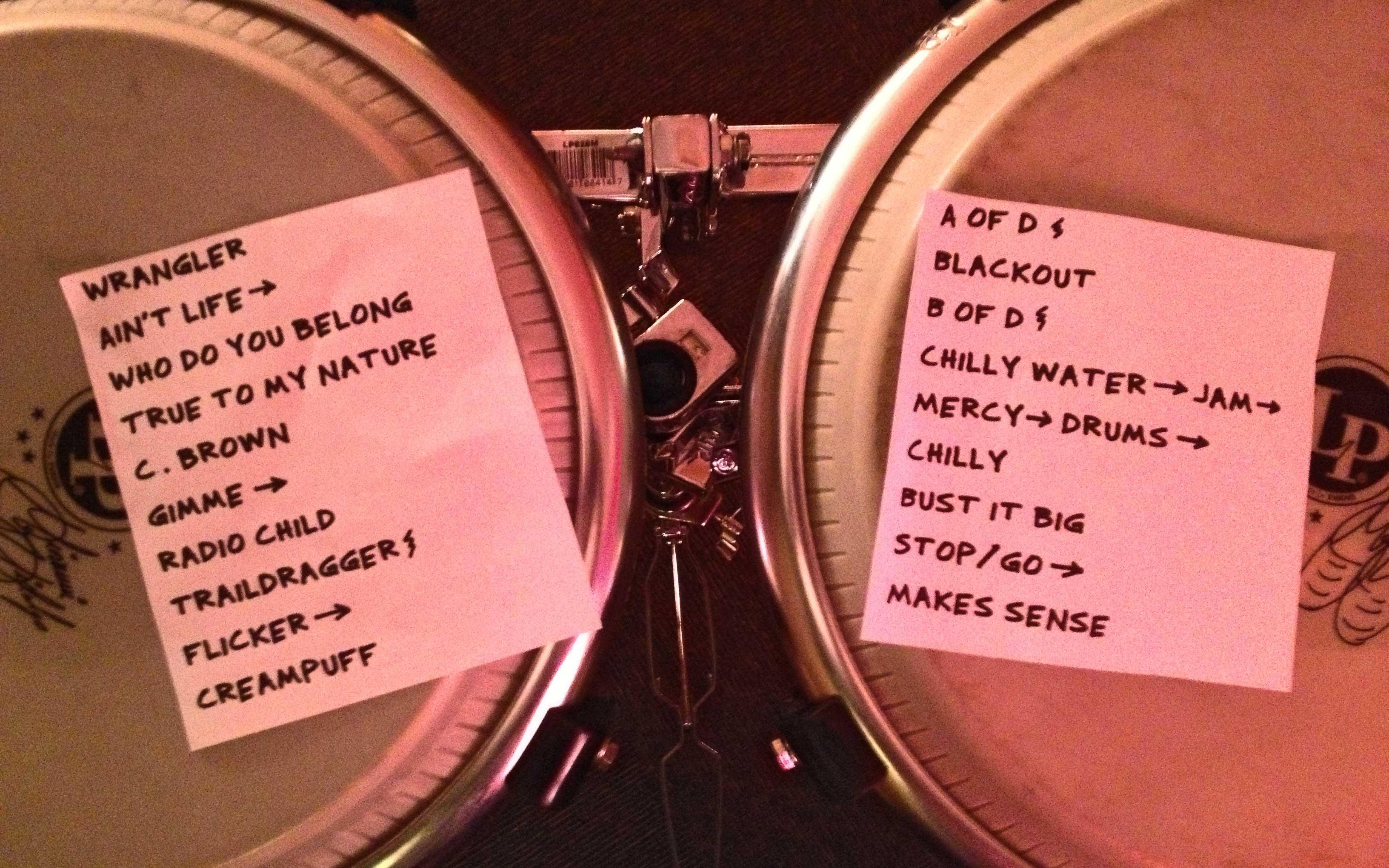 6/3/13 Setlist