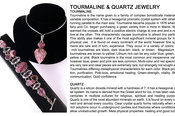 Tourmaline & Quartz Jewelry set